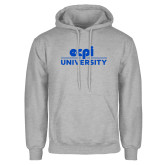 Grey Fleece Hoodie-ECPI University Stacked
