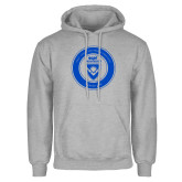 Grey Fleece Hoodie-ECPI University Seal