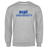 Grey Fleece Crew-ECPI University Stacked