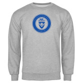 Grey Fleece Crew-ECPI University Seal