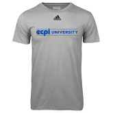 Adidas Climalite Sport Grey Ultimate Performance Tee-ECPI University Flat