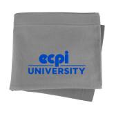 Grey Sweatshirt Blanket-ECPI University Stacked