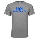 Grey T Shirt-ECPI University Stacked