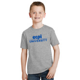 Youth Grey T Shirt-ECPI University Stacked