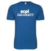 Next Level SoftStyle Royal T Shirt-ECPI University Stacked