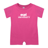 Bubble Gum Pink Infant Romper-ECPI University Stacked