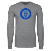 Grey Long Sleeve T Shirt-ECPI University Seal