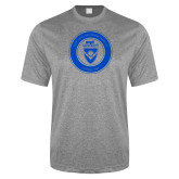 Performance Grey Heather Contender Tee-ECPI University Seal