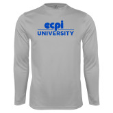 Performance Platinum Longsleeve Shirt-ECPI University Stacked
