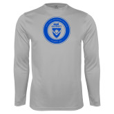 Performance Platinum Longsleeve Shirt-ECPI University Seal