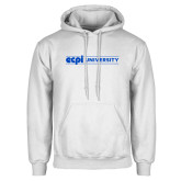 White Fleece Hoodie-ECPI University Flat