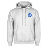 White Fleece Hoodie-ECPI University Seal