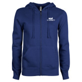 ENZA Ladies Royal Fleece Full Zip Hoodie-ECPI University Stacked