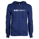ENZA Ladies Royal Fleece Full Zip Hoodie-ECPI University Flat