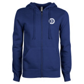 ENZA Ladies Royal Fleece Full Zip Hoodie-ECPI University Seal