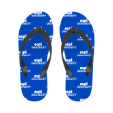 Ladies Full Color Flip Flops-ECPI University Stacked