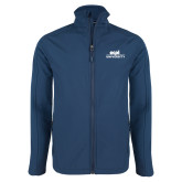 Navy Softshell Jacket-ECPI University Stacked