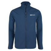 Navy Softshell Jacket-ECPI University Flat
