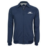 Navy Players Jacket-ECPI University Stacked