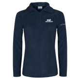 Columbia Ladies Half Zip Navy Fleece Jacket-ECPI University Stacked