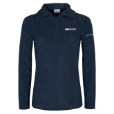 Columbia Ladies Half Zip Navy Fleece Jacket-ECPI University Flat