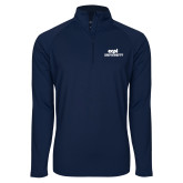 Sport Wick Stretch Navy 1/2 Zip Pullover-ECPI University Stacked