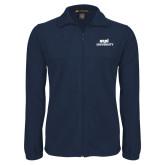 Fleece Full Zip Navy Jacket-ECPI University Stacked