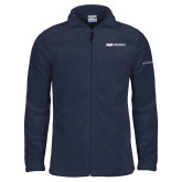 Columbia Full Zip Navy Fleece Jacket-ECPI University Flat