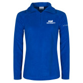Columbia Ladies Half Zip Royal Fleece Jacket-ECPI University Stacked