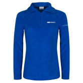 Columbia Ladies Half Zip Royal Fleece Jacket-ECPI University Flat