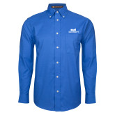 Mens Royal Oxford Long Sleeve Shirt-ECPI University Stacked