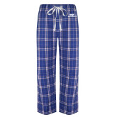 Royal/White Flannel Pajama Pant-ECPI University Stacked