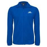 Fleece Full Zip Royal Jacket-ECPI University Stacked