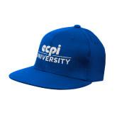 Royal OttoFlex Flat Bill Pro Style Hat-ECPI University Stacked