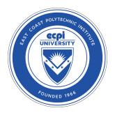 Medium Magnet-ECPI University Seal, 8 inches tall