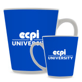 Full Color Latte Mug 12oz-ECPI University Stacked