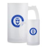 Full Color Decorative Frosted Glass Mug 16oz-ECPI University Seal