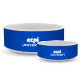 Ceramic Dog Bowl-ECPI University Stacked