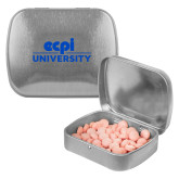Silver Rectangular Peppermint Tin-ECPI University Stacked