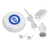 3 in 1 White Audio Travel Kit-ECPI University Seal