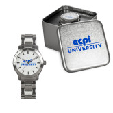 Ladies Stainless Steel Fashion Watch-ECPI University Stacked