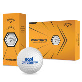 Callaway Warbird Golf Balls 12/pkg-ECPI University Stacked