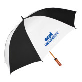 62 Inch Black/White Vented Umbrella-ECPI University Stacked