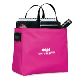 Tropical Pink Essential Tote-ECPI University Stacked
