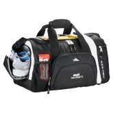 High Sierra Black 22 Inch Garrett Sport Duffel-ECPI University Stacked