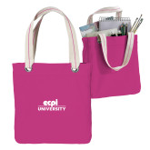 Allie Fuchsia Canvas Tote-ECPI University Stacked