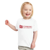 Toddler White T Shirt-University Logo Horizontal