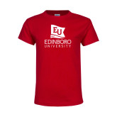 Youth Red T Shirt-University Logo Vertical