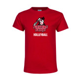 Youth Red T Shirt-Volleyball