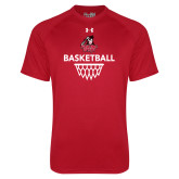Under Armour Red Tech Tee-Basketball with Sharp Net